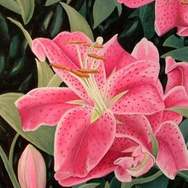 Robert Tittle: 'THE LILY', 2004 Oil Painting, Floral.