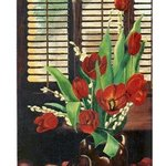 TULIPS by the window               By Robert Tittle