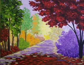 Tatyana Leksikova Artwork Park Alley, 2011 Oil Painting, Landscape
