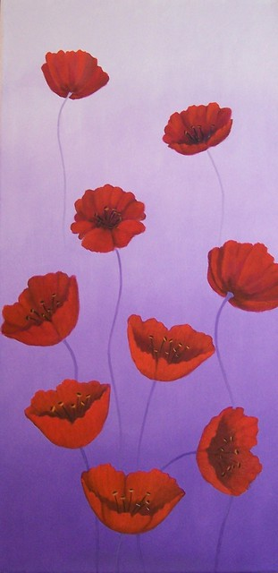 Tatyana Leksikova  'Poppies Blossom', created in 2011, Original Painting Oil.