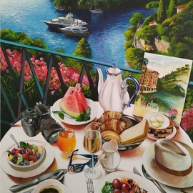 carefree morning in portofino By Krisztina T.Molnár