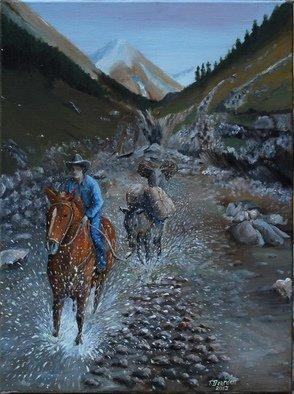 Artist: Terry Bearden - Title: Riding the ridge  - Medium: Oil Painting - Year: 2013