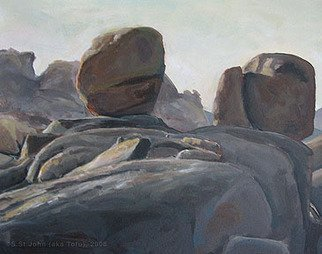 Landscape Acrylic Painting by S Tofu Title: Joshua Tree National Park, Spring Sunset VI, created in 2008