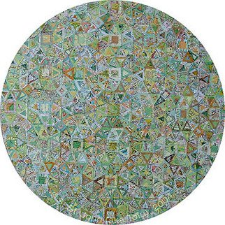 S Tofu: 'Tree Top Map', 2004 Collage, Maps.    Mixed media map collage   ...