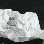 rocks on white paper ink art By Hector Sandoval