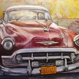 Tomas Castano: 'Old Cadillac Havana', 2007 Oil Painting, Transportation.