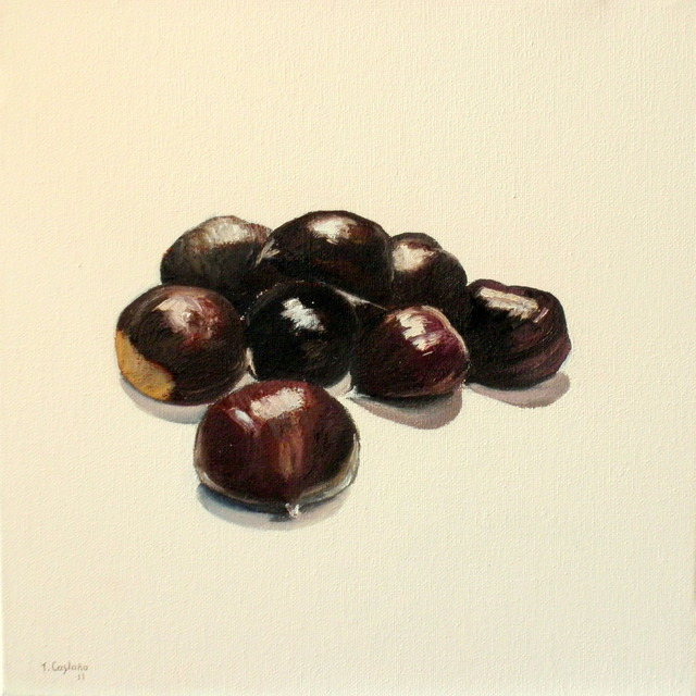 Tomas Castano  'Chestnuts', created in 2011, Original Painting Oil.