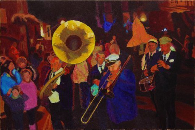 Tom Henderson Smith  'Old Glory New Orleans Jazz', created in 2009, Original Printmaking Giclee.