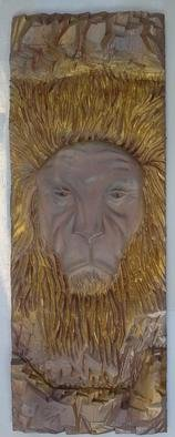 Ton Dias: 'Lion wood carving', 2012 Wood Sculpture, Animals. Artist Description:  Lion wood carving created by Ton Dias, brazilian wood carver and sculptor.  ...