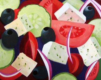 Artist: Toni Silberdelerive - Title: Greek Salad  - Medium: Acrylic Painting - Year: 2011