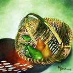 avocado and pears in basket By Miriam Besa