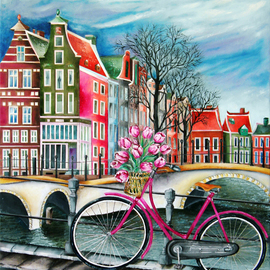 bike stop in amsterdam By Miriam Besa