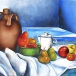 still life jug with fruits By Miriam Besa