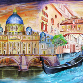 vatican and grand canal By Miriam Besa