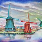 windnill village amsterdam By Miriam Besa