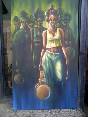 Culture Oil Painting by Ajayi Tope Title: Who we are, created in 2015