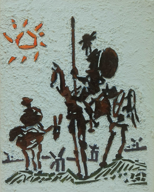 Ercan Toprak  'Don Quixote', created in 2018, Original Mosaic.