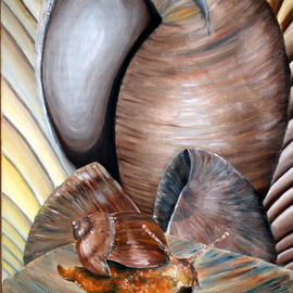 SNAILS original oil painting listed by artist By Duta Razvan