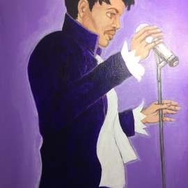 Ernest Walker: 'prince', 2019 Acrylic Painting, Famous People. Artist Description: Personal art for my daughte...