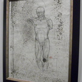 Tracey Datsi Pennell Artwork Study, 2000 Charcoal Drawing, Figurative