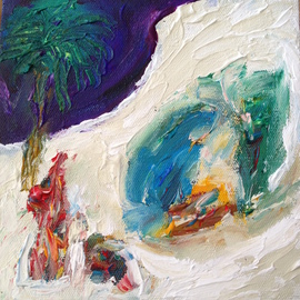 Paulo Medina: 'Gruta', 2015 Acrylic Painting, Abstract Figurative. Artist Description:  Pequena gruta de Belen ...