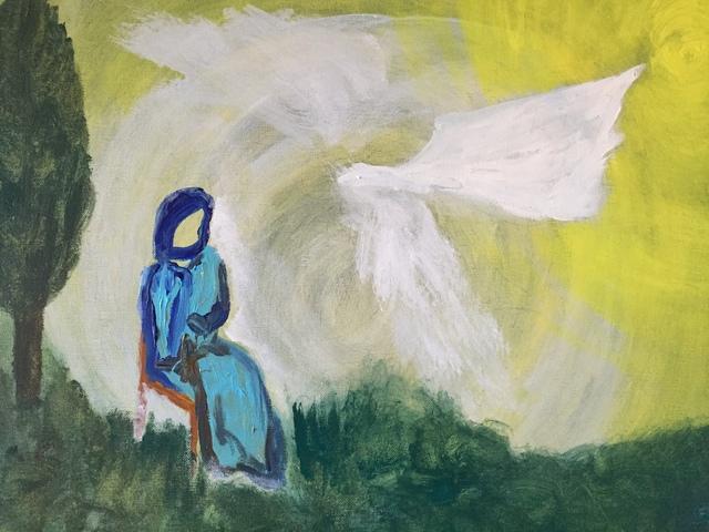 paulo medina artwork annunciation original painting acrylic
