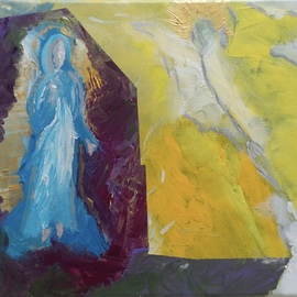 Paulo Medina: 'annunciation', 2017 Acrylic Painting, Religious. Artist Description: And Mary said to the angel How shall this be done, because I know not manLk 1, 34. ...