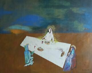 Paulo Medina: 'emmaus', 2021 Acrylic Painting, Religious. This is the time to go back to Emmaus...