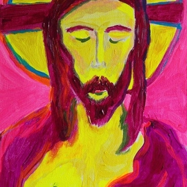 Paulo Medina: 'manso y humilde', 2020 Acrylic Painting, Religious. Artist Description: A small painting for devotion ...