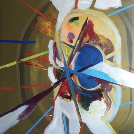 Paulo Medina: 'martyrdom of saint sebastian', 2020 Acrylic Painting, Religious. Artist Description: Abstract painting ...
