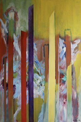 Paulo Medina: 'the song of songs', 2015 Acrylic Painting, Abstract. poem of colors...