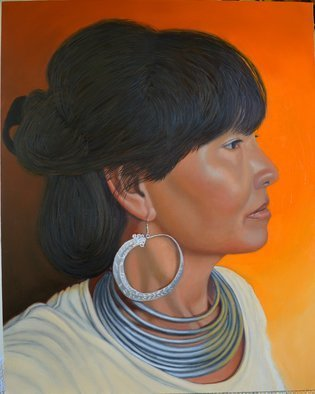 Thu Nguyen: 'lady of sapa', 2018 Oil Painting, Portrait. Artist Description: oil on panel, 16 x 20 inches, framed ready to hang...