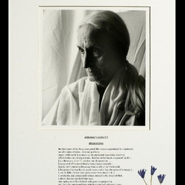George Transcender Artwork alzheimers series  3, 2001 Black and White Photograph, Death