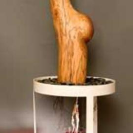 George Transcender Artwork natural childbirth, 1990 Wood Sculpture, Representational