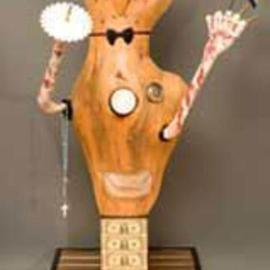 George Transcender Artwork south africa 1989, 1989 Wood Sculpture, Representational