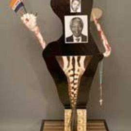 George Transcender: 'south africa 1989', 1989 Wood Sculpture, Representational. Artist Description: