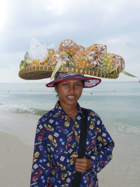 Khiang Hei  'Beach  Vendor', created in 2008, Original Photography Color.