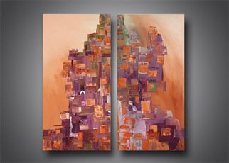 Artist: Paul Harrington - Title: City Scape - Medium: Acrylic Painting - Year: 2010