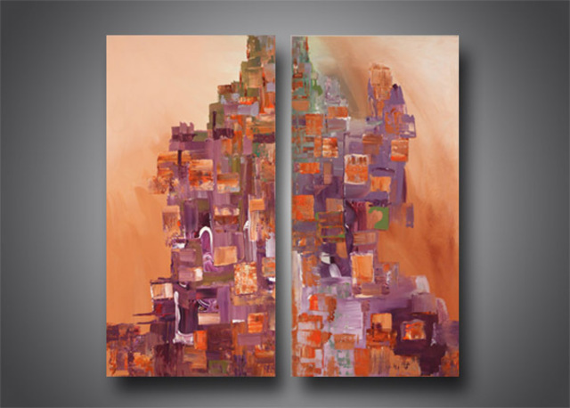 Paul Harrington  'City Scape', created in 2010, Original Painting Acrylic.