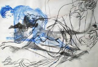 Antonio Trigo: 'Baile III', 2011 Other Drawing, People.