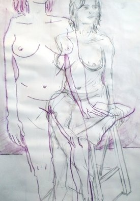 Antonio Trigo: 'Body moving', 2011 Other Drawing, People.