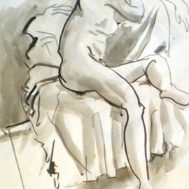 nude study at the tench