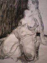 - artwork Valentina-1323027405.jpg - 2011, Drawing Charcoal, Figurative