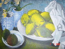 - artwork lemons-1322765550.jpg - 2007, Painting Acrylic, Still Life