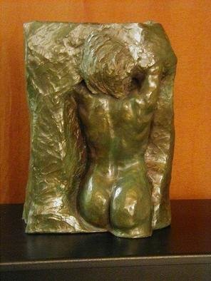 Terry Mollo: 'Hope', 2000 Ceramic Sculpture, Inspirational. Artist Description: A woman emerges from stone. This original shown is stoneware with a bronze/ emerald green patina, but the piece can be ordered in cast stone, bronze, bonded bronze or a variety of materials, some suitable for outdoor placement....