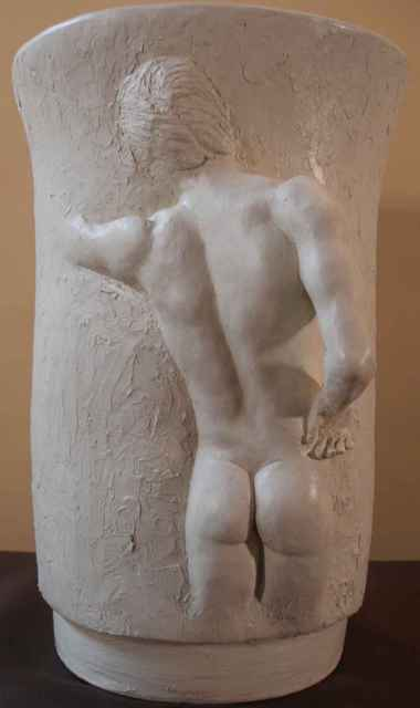 Terry Mollo VAse With Male Figure 2006