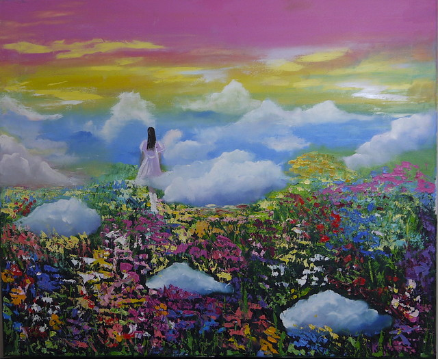 Natalia Kolesnichenko  'A Walk In The Clouds', created in 2018, Original Painting Oil.