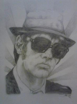 Pencil Drawing by Jonathan Russell titled: elwood, 2012