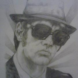 Jonathan Russell Artwork elwood, 2012 Pencil Drawing, Famous People