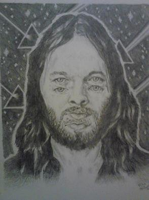 Pencil Drawing by Jonathan Russell titled: trippy dave, 2012